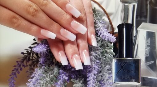 Ombre gel nail extensions